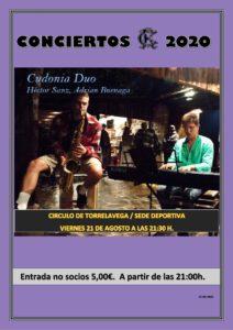 Concierto 21-08-2020 @ Sede Deportiva