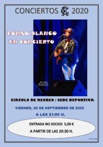 Concierto 25-09-2020 @ Sede Deportiva