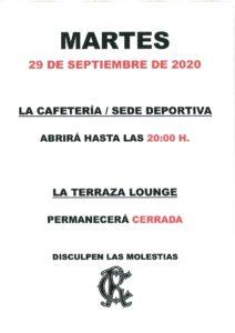Hostelería 29-09-2020 @ Sede Central