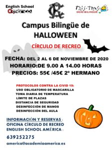 Campus Bilingüe Halloween 2020 @ Sede Central