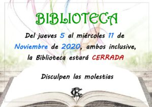 Biblioteca 05-11-2020 @ Sede Central