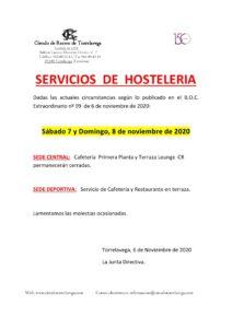 Hostelería 7 y 8-11-2020 @ Sede Deportiva