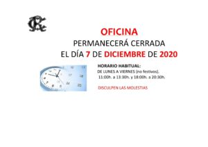 Oficina 07-12-2020 @ CIRCULO DE RECREO TORRELAVEGA