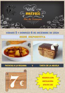 Menú 05 y 06-12-2020 @ Sede Deportiva