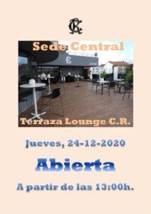 Terraza Lounge CR 24-12-2020 @ Sede Central