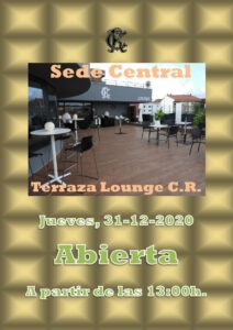 Terraza Lounge CR 31-12-2020 @ Sede Central