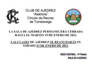 Club Ajedrez 23-01-2021 @ Sede Central