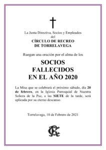 Misa Socios 20-02-2021 @ Sede Central