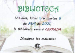 Biblioteca 5 y 6-04-2021 @ SEDE CENTRAL