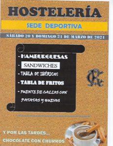 Hostelería 20 y 21-03-2021 @ SEDE DEPORTIVA