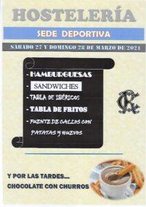 Hostelería 27 y 28-03-2021 @ SEDE DEPORTIVA