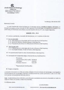 Asamblea General Ordinaria 23-04-2021 @ SEDE CENTRAL