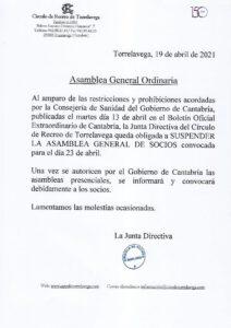 A.G.O. 23-04-2021 SUSPENDIDA @ SEDE CENTRAL