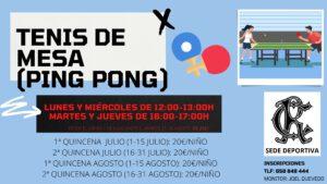 Tenis de Mesa (ping pong) 2021 @ SEDE DEPORTIVA