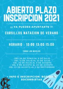 Cursillos Natación Verano 2021 @ SEDE DEPORTIVA