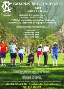 Campus 2021 niños/as de 8 a 12 años @ SEDE DEPORTIVA