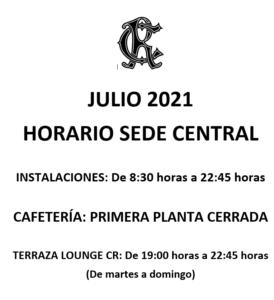 Horarios Sede Central @ Sede Central