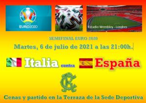 Partido Eurocopa 2020 @ SEDE DEPORTIVA