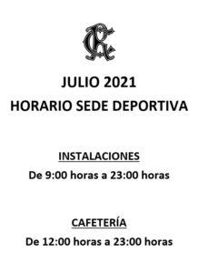 HORARIOS SEDE DEPORTIVA @ SEDE DEPORTIVA