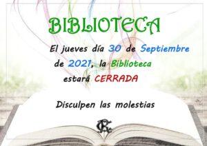 Biblioteca 30-09-2021 @ SEDE CENTRAL