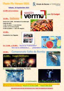 Fiesta Fin Verano 2021 @ SEDE DEPORTIVA