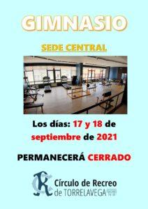 Gimnasio 17 y 18-09-2021 @ SEDE CENTRAL