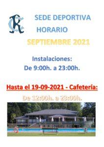 Horarios Septiembre Sede Deportiva @ Sede Deportiva