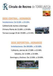 Horarios Sedes desde 21-09-2021 @ SEDE CENTRAL