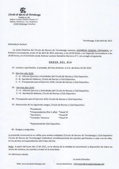 A.G.O. CONVOCATORIA 06-04-2021