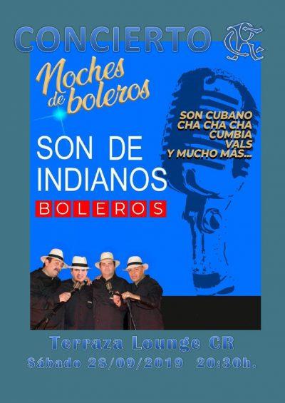 Concierto SON DE INDIANOS terraza lounge CR 28-09-2019