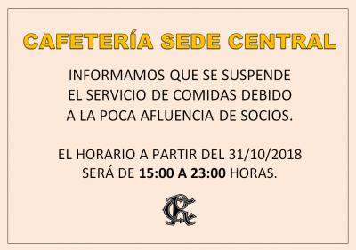 HORARIO CAFETERIA