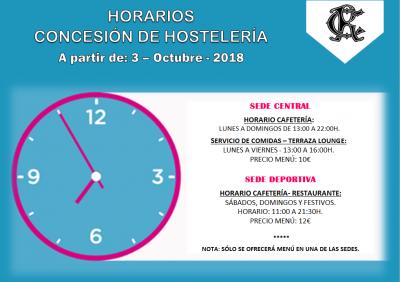 HORARIO OCTUBRE 2018