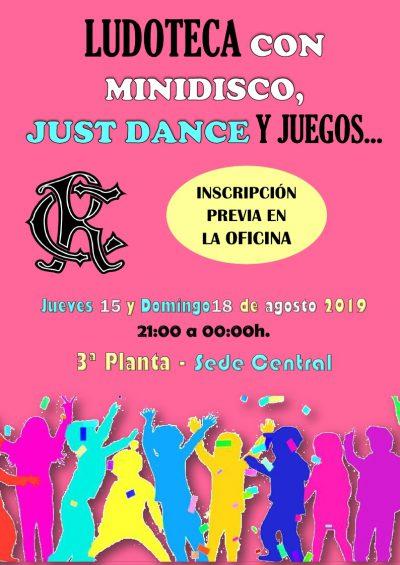 LUDOTECA MINIDISCO SEDE CENTRAL 15 y 18-08-2019