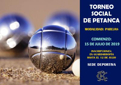TORNEO SOCIAL DE PETANCA 15-07-2019