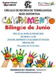 Campamento Bilingüe Verano 2018 @ Sede deportiva (Tronqueria)