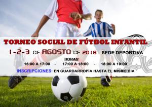 Torneo Social fútbol Infantil 2018 @ Sede Deportiva