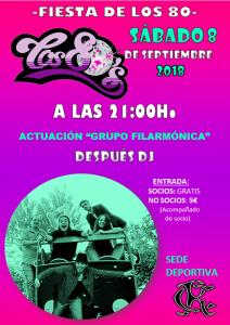 Fiesta de los 80 @ Sede Deportiva
