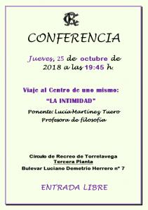 Conferencia de Lucía Martínez Tuero @ Sede Central