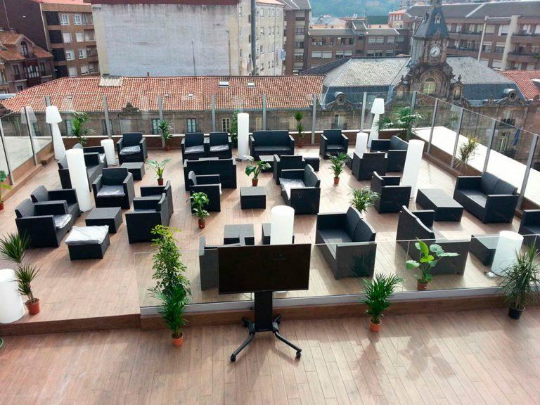 Terraza lounge, vista general