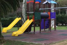 Zona de juegos infantil, toboganes