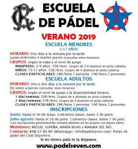 Escuela de Pádel Verano @ Sede Deportiva