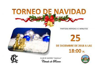 Cartel Torneo Ajedrez Navidad 25-12-2018