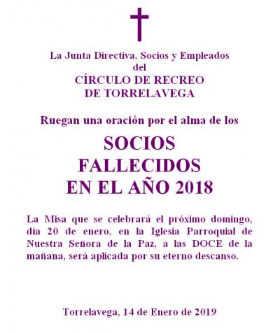 MISA SOCIOS FALLECIDOS 2018